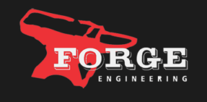 forge engineering inc logo of a red anvil with the words forge engineering in white letters with a dark background in Anchorage, Alaska