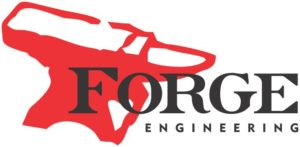 Forge Engineering logo with white background and black letters